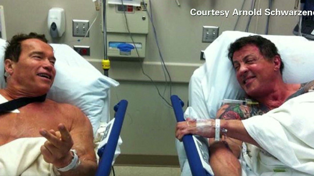 Stallone, Schwarzenegger in hospital