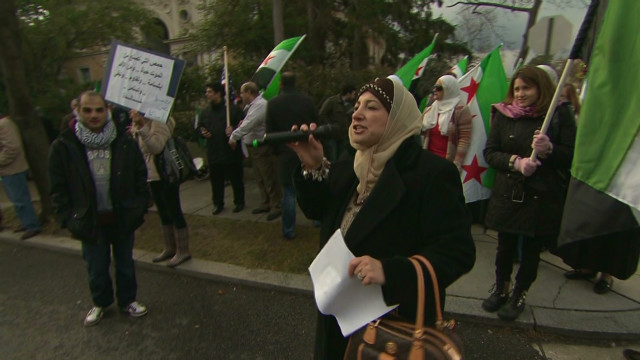 Syrians in U.S. protest unrest in Syria