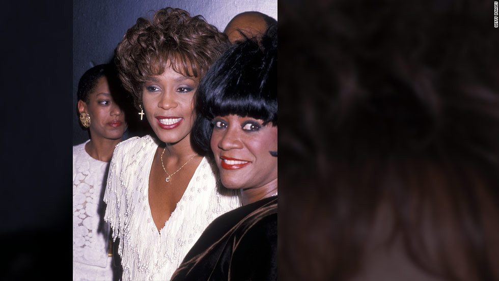 Houston and singer Patti LaBelle attend the fourth annual Essence Awards in October 1990 in New York.