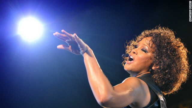 "Whitney Houston performs during her ""Nothing But Love"" tour in Berlin on May 12, 2010."