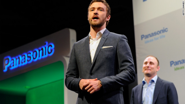 Justin Timberlake and Myspace CEO Tim Vanderhook appear at the Consumer Electronics Show last month in Las Vegas.