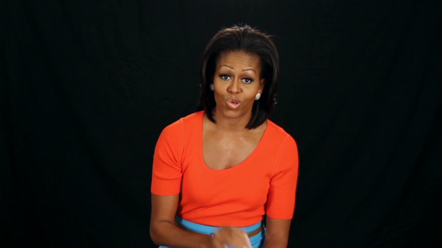 First lady answers iReporter questions