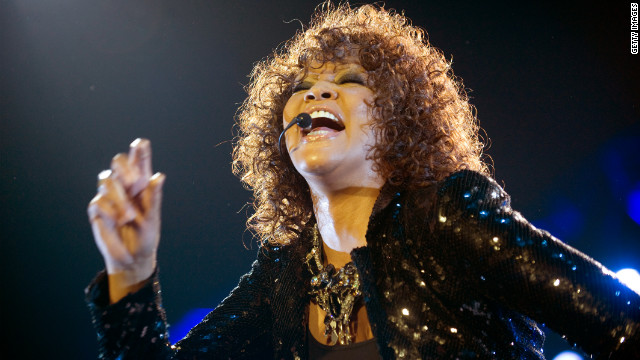 Whitney Houston performs at the O2 Arena on April 25, 2010 in London.