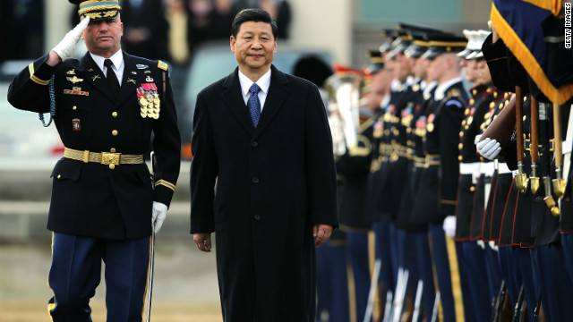 Chinese Vice President Xi Jinping (center) is currently in the United States where he met U.S. President Barack Obama.