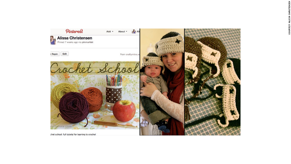 "After learning to crochet via a tutorial she found through Pinterest, Christensen made these <a href=""http://ireport.cnn.com/docs/DOC-743625"">hats for her baby</a> and all the other young boys in her extended family."