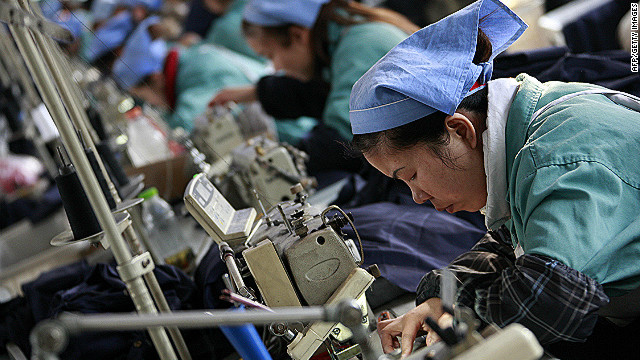 Chinese factory output has weakened, weighed down by lackluster domestic demand.