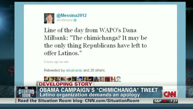 Obama campaign's 'chimichanga' tweet