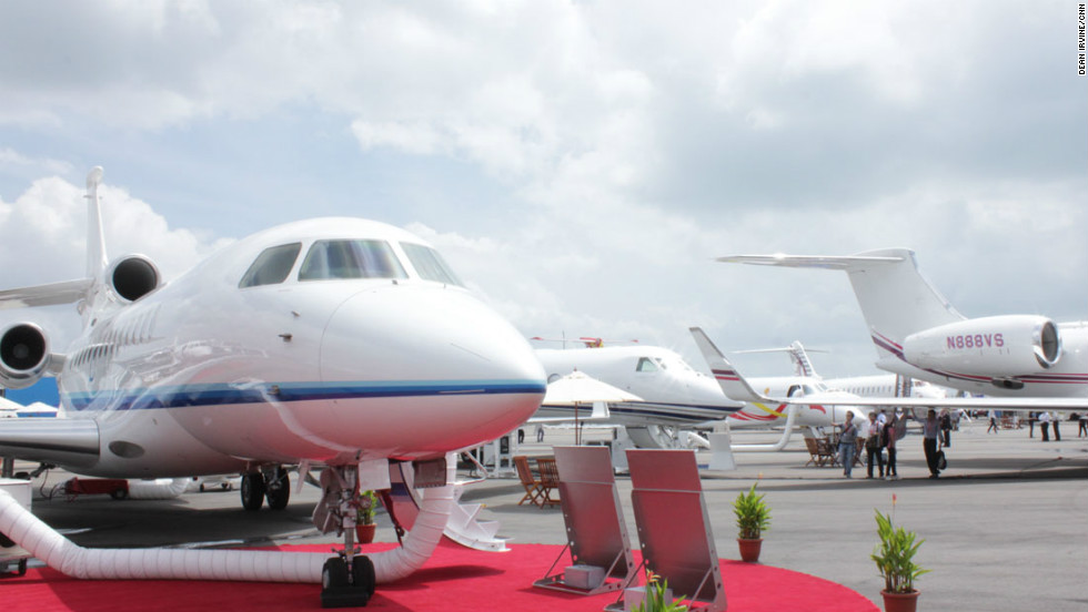 Red carpet treatment for the private jets and their possible future owners at the Singapore Airshow.