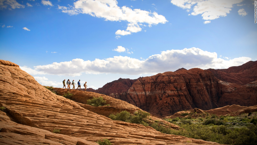 Clear your head and get your heart rate up with a hike in nearby Snow Canyon State Park.