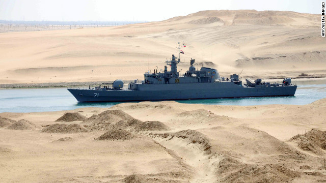 Iranian patrol frigate Alvand transits through the Suez Canal in this file picture dated February 22, 2011.