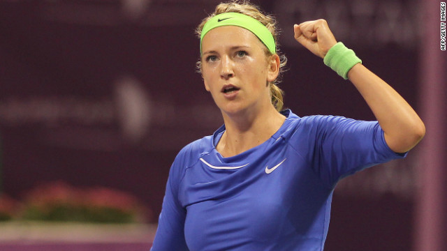 Victoria Azarenka took her third title of 2012 after beating Samantha Stosur at the Qatar Open in Doha.
