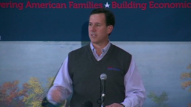 Santorum: Environment is political