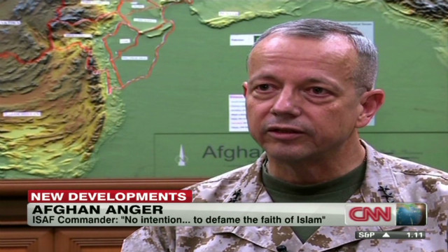 ISAF commander makes Quran apology