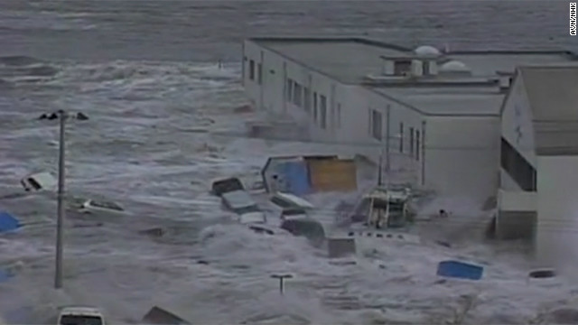 CNN takes a look at the aftermath in Japan caused by a tsunami triggered by Friday's earthquake off the Japanese coast.
