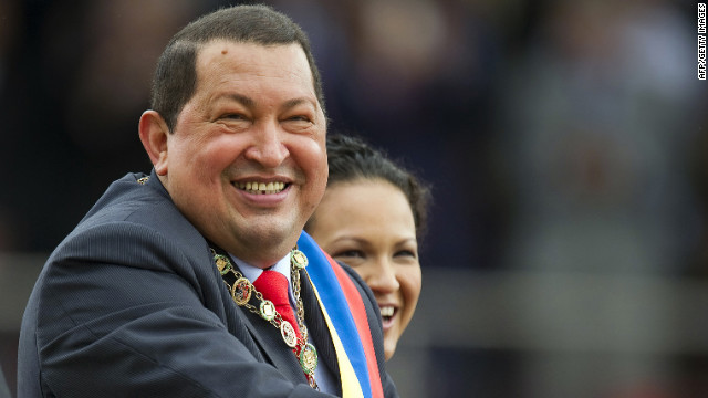 Venezuelan President Hugo Chavez smiles next to his daughter, Rosa Virginia, during a parade in Caracas earlier this month.