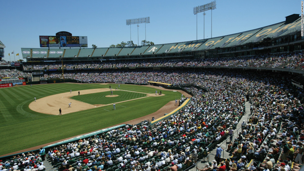 An A's game at The Coliseum is a family-friendly option in Oakland.