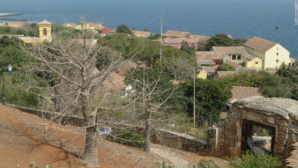 Looking down on Gorée Island is like looking through a time machine.