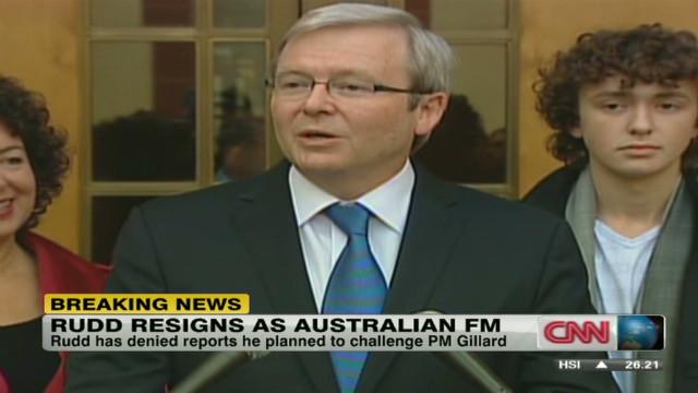 Kevin Rudd resigns as Australian FM