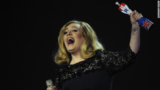 Adele flips the bird at awards show