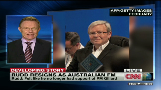 Why Rudd resigned as Australian FM