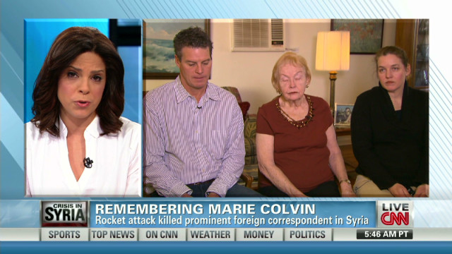 Marie Colvin's family on her life, work