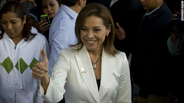 Mexican presidential candidate Josefina Vazquez Mota in Huixquilucan, Mexico, on February 5, 2012.