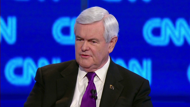 Gingrich supports a strike on Iran