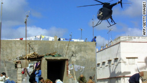 On the set of the movie, 'Black Hawk Down'