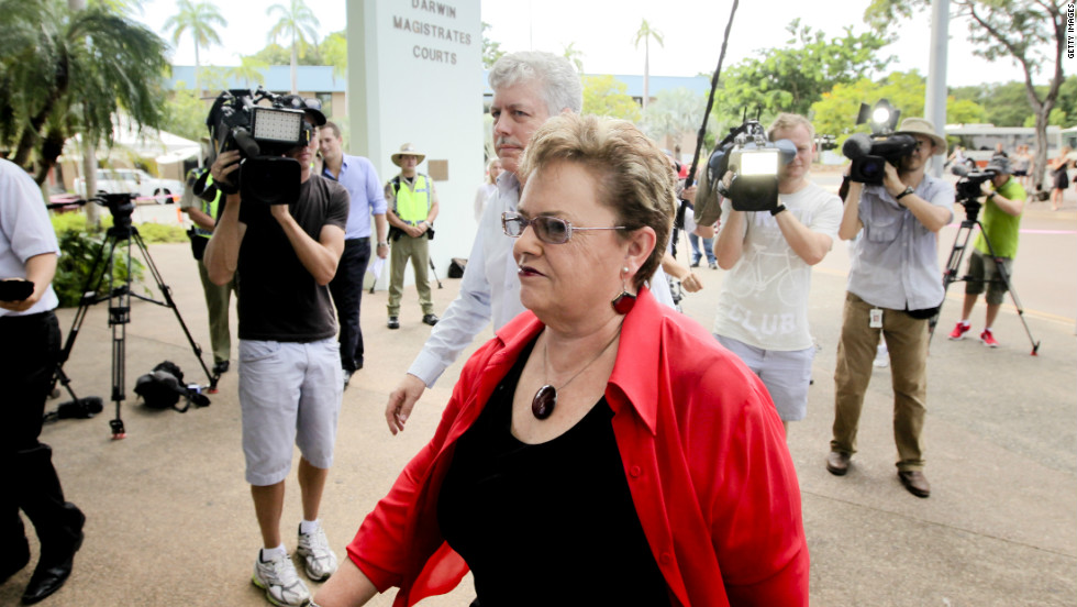 Lindy Chamberlain-Creighton arrives at Darwin Magistrates Court in February for the fourth inquest into her daughter Azaria's death. A coroner ruled Tuesday, June 12, that a dingo was responsible.