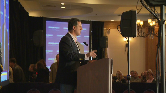 Romney, Santorum face-off in Michigan