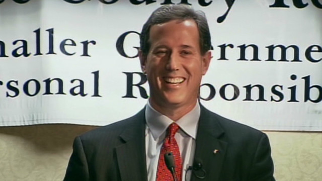 Santorum gives advice to NASCAR driver
