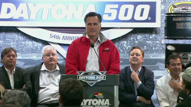 Mitt Romney attends Daytona 500