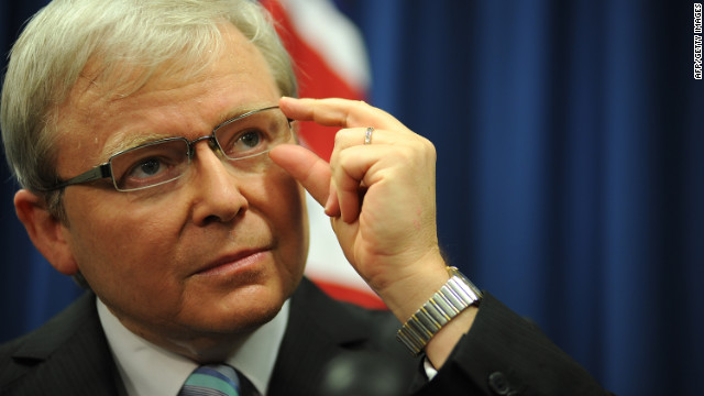 Kevin Rudd sworn in as Australian PM