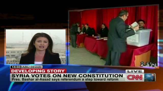 Syria votes on new constitution