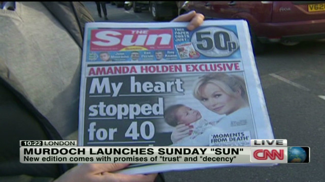 Murdoch launches Sunday 'Sun'
