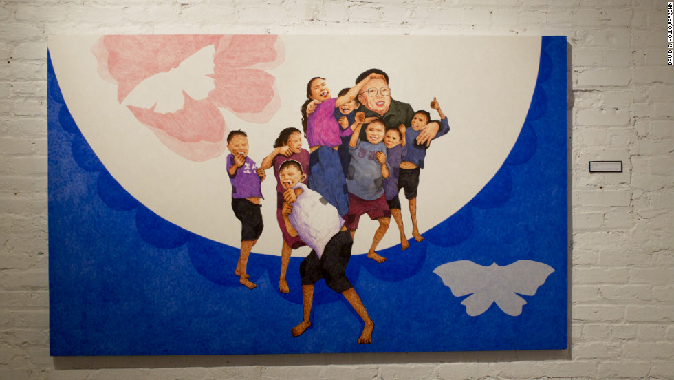"It's not uncommon for North Koreans to describe the Dear Leader as a surrogate parent. In ""A Loving Father and His Children,"" Song replaces the chubby, square-jawed children he painted as a propagandist with realistic images of child beggars found around many North Korean rail stations. Passers-by will sometimes pay them to sing; a popular song is ""Our General is a Great Leader."""