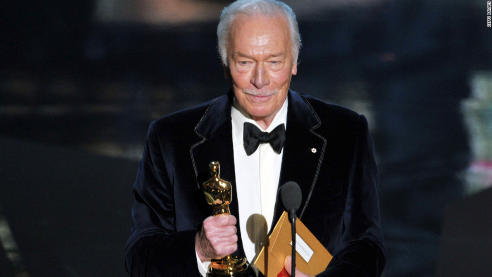 "During Christopher Plummer's acceptance speech (he won best supporting actor for his role in ""Beginners""), he joked about his age. At 82, Plummer is the oldest actor to win an Academy Award. ""You're only two years older than me, darling,"" he told his Oscar. ""Where have you been all my life?"" Billy Crystal even joked, ""Next year, this will be called the Flomax Theatre."""
