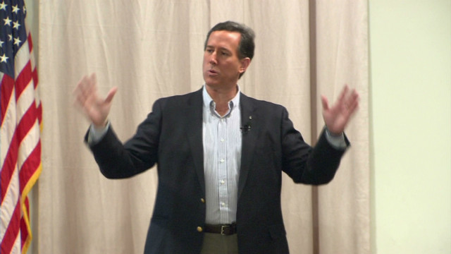 Santorum, Romney spar in Michigan