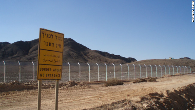 A security fence is seen along the Israel-Egypt border on November 22, 2011, 20 kilometers north of the Red Sea resort of Eilat.