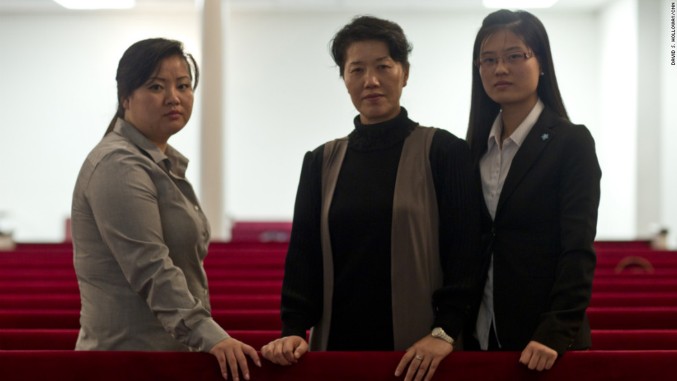 "JinHye Jo, Song Ee Han and EunHye Jo used to scour the countryside for tree bark, grass and rodents to survive in North Korea. ""You can't sleep,"" JinHye recalled. ""You think of meat, rice and what it's like to have food in your stomach. You're constantly thinking of food, so you lose your mind."""