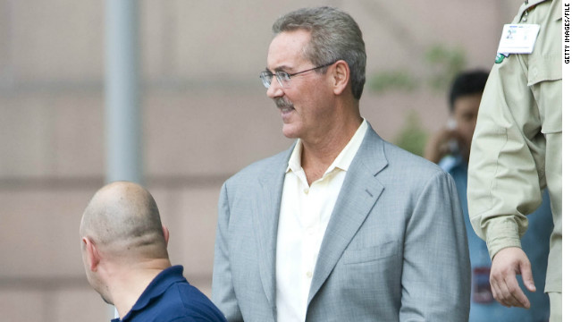 Financier Robert Allen Stanford leaves the Bob Casey Federal Building and Courthouse June 26, 2009, in Houston, Texas.