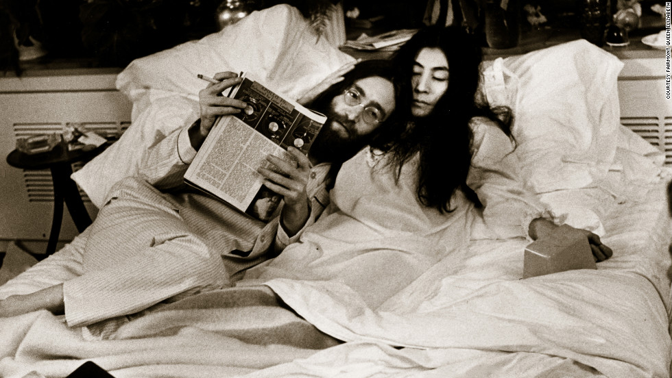 "John Lennon and Yoko Ono wrote and recorded ""Give Peace A Chance"" in 1969 during a ""bed-in"" at the Fairmont Queen Elizabeth."