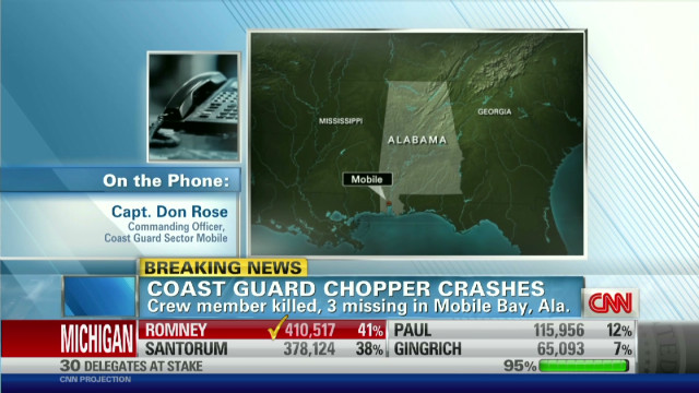 Coast Guard searching for 3 in Alabama