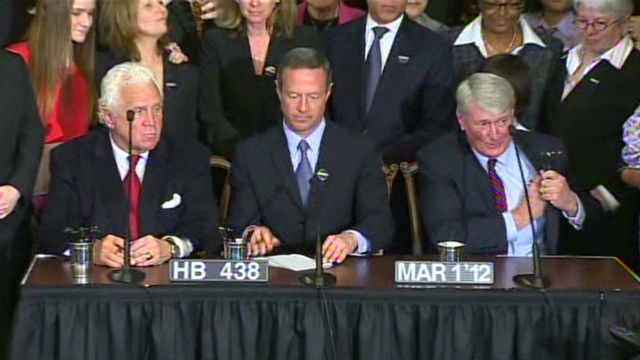 MD gov. signs same-sex marriage bill