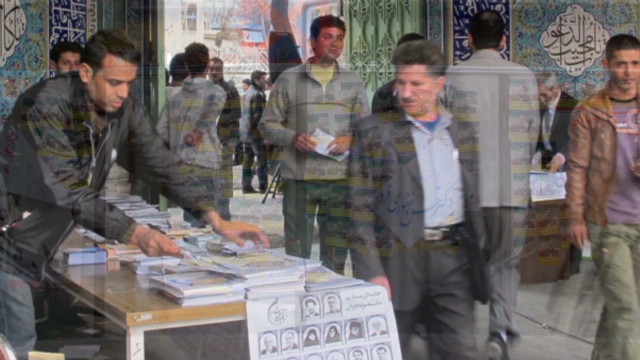 Rare peek inside Iranian campaign rally