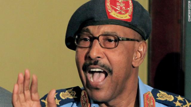 Sudan's Defence Minister Abdelrahim Mohamed Hussein holding a press conference on September 12, 2011in Khartoum