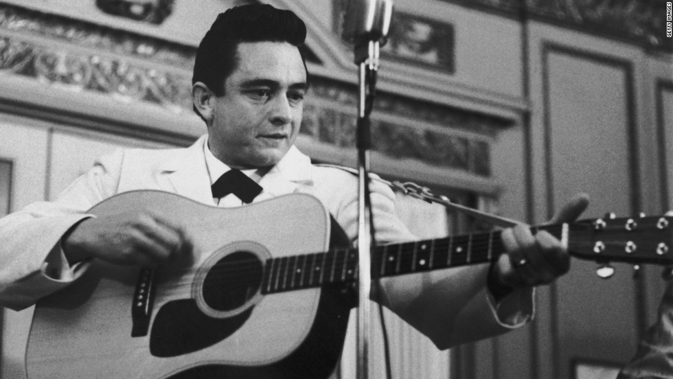 Johnny Cash, pictured in the 1950s, ended his days as the unofficial figurehead of the alt-country scene.