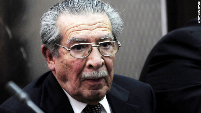 Former de facto President (1982-1983) Jose Efrain Rios Montt, at a court hearing in Guatemala City on March 1, 2012