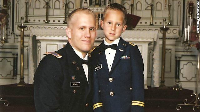 Braydon Nichols, right, lost his father Bryan Nichols last year.
