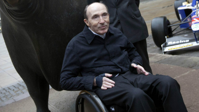 Frank Williams is tetraplegic and has been confined to a wheelchair since a car crash in 1986.